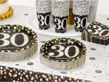 30th Birthday Decorations Black and White Sparkling Celebration 30th Birthday Party Supplies Party