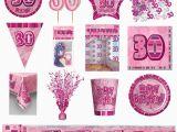 30th Birthday Decorations Pink 30th Pink Glitz Birthday Party Supplies Decorations