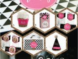 30th Birthday Decorations Pink Chic 30th Birthday Party Decorations Black Pink theme