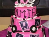 30th Birthday Decorations Pink Pink and Black 30th Birthday Cake with Edible Photos