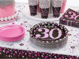 30th Birthday Decorations Pink Pink Sparkling Celebration 30th Birthday Party Supplies