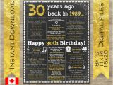 30th Birthday Gifts for Him Canada 30th Birthday for Him 30th Birthday Decorations Back In Etsy