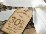30th Birthday Gifts for Him Ebay Personalised 30th Birthday Gift Tag Unusual Engraved