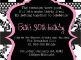 30th Birthday Invitation Sayings 20 Interesting Invitations Themes Wording
