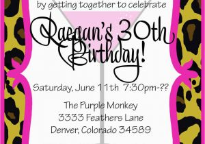 30th Birthday Invitation Sayings Party Free Templates For
