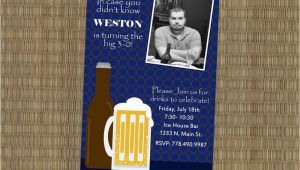 30th Birthday Invitations for Men Items Similar to Men 39 S 30th Birthday Invitation Beer