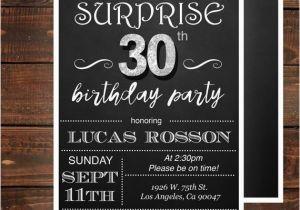 30th Birthday Invitations For Men Surprise Him Mens