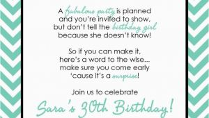 30th Birthday Invites Wording Surprise 30th Birthday Invitation Samples