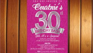 30th Birthday Party Invitations for Her 30th Birthday Invitation Surprise 30th for Her Adult