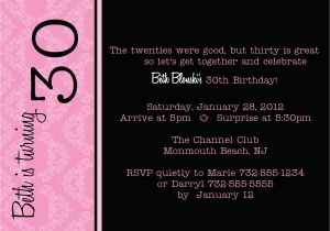 30th Birthday Party Invite Wording Funny Quotes For Men Quotesgram