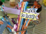 30th Birthday Table Decorations 30th Birthday theme 30 Sucks Party Ideas