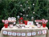 30th Birthday Table Decorations Cake Creative Co Real Parties A Rustic Red 30th Birthday