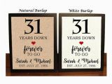 31 Gifts for 31st Birthday for Him 31st Anniversary Gift 31st Wedding Anniversary Gift Gift