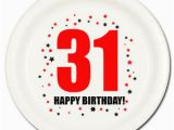 31 Gifts for 31st Birthday for Him Happy 31st Birthday Age 31 Party Supplies Dessert Cake Plates