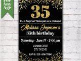 35th Birthday Invitations 35th Birthday Invitation Birthday Party Invite Printable