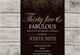 35th Birthday Invitations 35th Birthday Invitation for Women Printable Thirty Five and