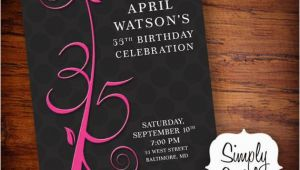 35th Birthday Invitations Items Similar to 35th Birthday Invitation On Etsy