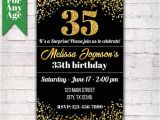 35th Birthday Party Invitations 35th Birthday Invitation Birthday Party Invite Printable