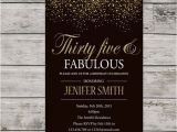 35th Birthday Party Invitations 35th Birthday Invitation for Women Printable Thirty Five and
