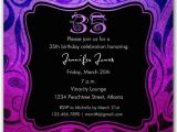 35th Birthday Party Invitations Brilliant Emblem 35th Birthday Party Invitations Paperstyle