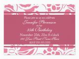 35th Birthday Party Invitations Floral 35th Birthday Party Invitation Card Ladyprints