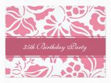 35th Birthday Party Invitations Floral 35th Birthday Party Invitations Zazzle