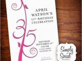 35th Birthday Party Invitations Items Similar to 35th Birthday Invitation On Etsy