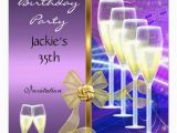 35th Birthday Party Invitations Personalized Womans 35th Birthday Party Invitations