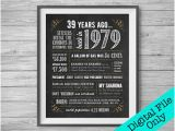 39th Birthday Ideas for Him 39th Anniversary Etsy