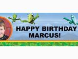 3d Dinosaur Happy Birthday Banner Dinosaurtrain Personalized Photo Vinyl Banner