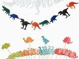 3d Dinosaur Happy Birthday Banner Party Decor Yosmi Dinosaur Birthday Party Supplies