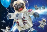 3d Holographic Birthday Cards 3d Holographic Pug In Space Birthday Card Cards Love Kates