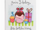 3rd Birthday Card Girl 3 Big Birthday Wishes Handmade Girls 3rd Birthday Card