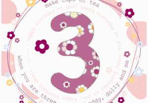 3rd Birthday Card Girl 3rd Birthday Cards for Girls Molly Mae 3rd Birthday
