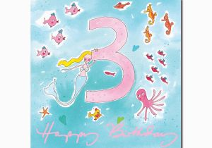 3rd Birthday Card Girl Happy 3rd Birthday Girl Greeting Card From sophie Allport