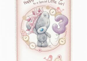 3rd Birthday Card Girl Me to You Happy 3rd Birthday Special Little Girl Card