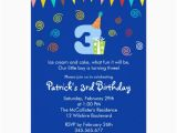 3rd Birthday Invitation Cards 3rd Birthday Children 39 S Party Invitation Zazzle