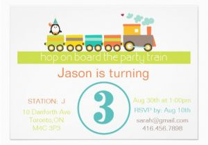 3rd Birthday Invitation Wording Boy 3rd Birthday Boy Train Invitation 5 Quot X 7 Quot Invitation
