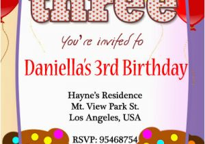 3rd Birthday Invitation Wording Boy 3rd Birthday Invitations 365greetings Com