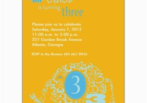 3rd Birthday Invitation Wording Boy Elephant Boy 3rd Birthday Invitations Paperstyle