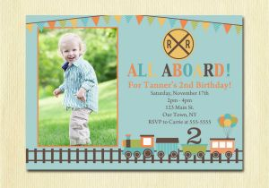 3rd Birthday Invitation Wording Boy Train Birthday Invitation Boys 1st 2nd 3rd 4th Birthday