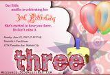 3rd Birthday Party Invitation Message 3rd Birthday Invitations 365greetings Com