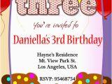 3rd Birthday Party Invites 3rd Birthday Invitations 365greetings Com