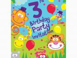 3rd Birthday Party Invites 3rd Birthday Party Supplies Party Delights