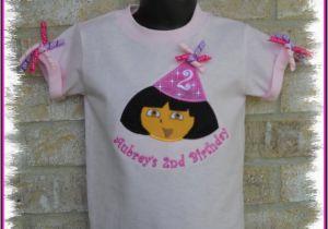 3t Birthday Girl Shirt Girls Personalized Dora Birthday Hat Shirt 2t 3t 4t 5 6