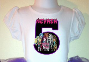 3t Birthday Girl Shirt Monster High Girl Birthday Shirt 1t 2t 3t 4t 5t 6t 7t 8t