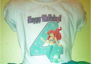 3t Birthday Girl Shirt the Little Mermaid Birthday Shirt 1t 2t 3t 4t 5t 6t 7t 8t