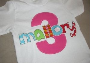 3t Birthday Girl Shirt toddler Girls 3rd Third Birthday Personalized 3 Shirt 3t 4t