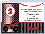 4 Wheeler Birthday Invitations Four Wheeler Birthday Invitations 073 12 Printed by Lullabyloo