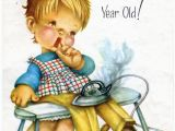 4 Year Old Birthday Cards Vintage Birthday Greeting Card for Four 4 Year Old Child